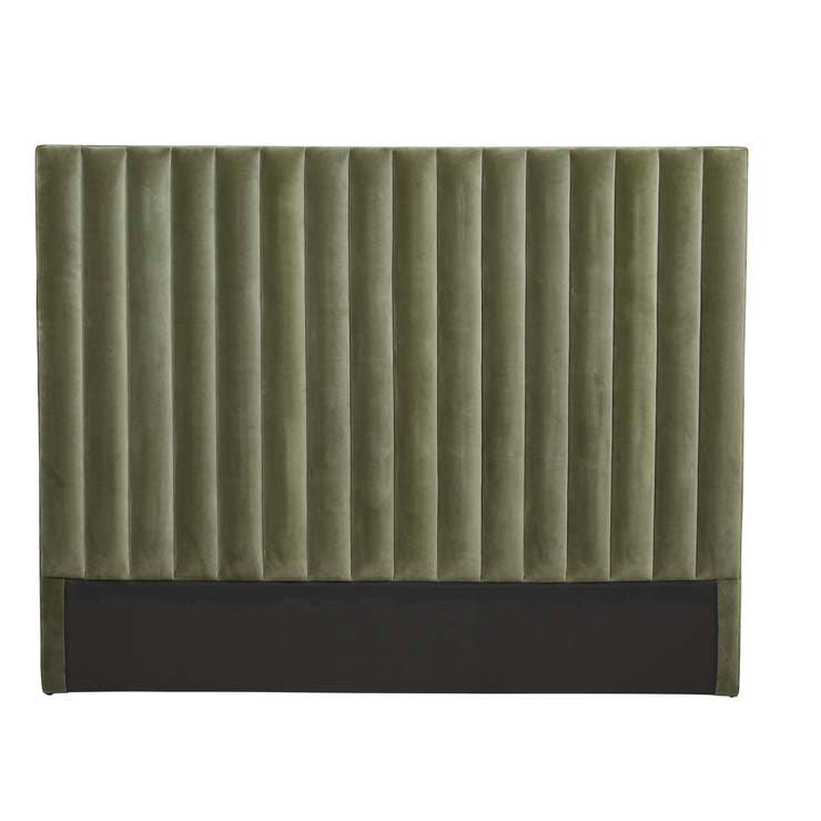 kennedy tufted king bedhead olive