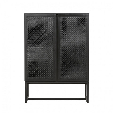 willow woven storage unit ebony