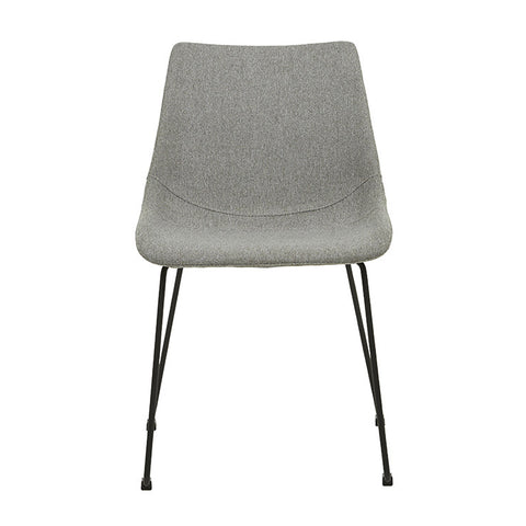 arnold dining chair grey with black