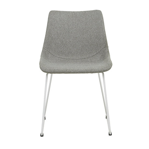 arnold dining chair grey with white