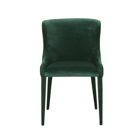 claudia dining chair green velvet