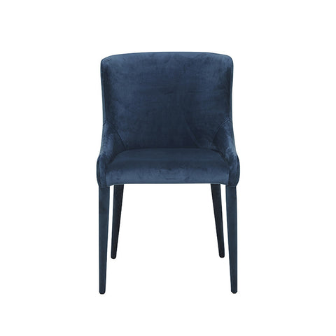 claudia dining chair navy velvet