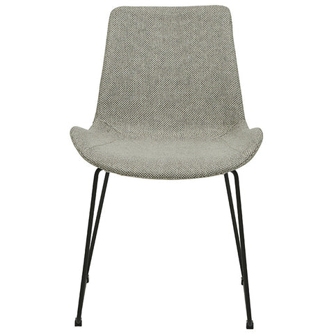 cleo sleigh dining chair woven putty