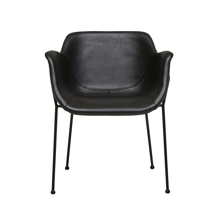 etta dining chair matt black