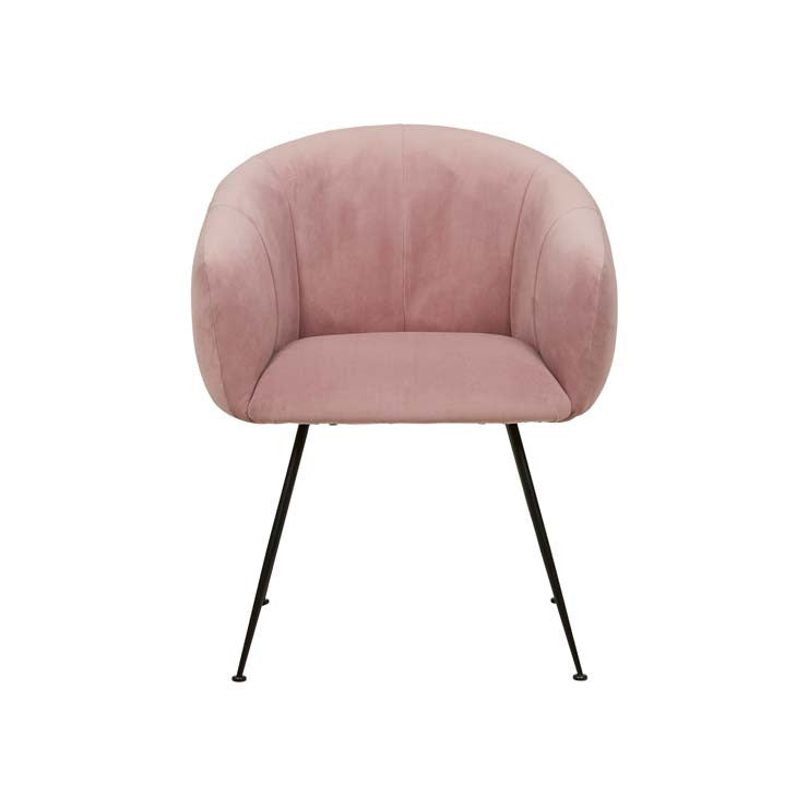 isabella dining chair pink velvet