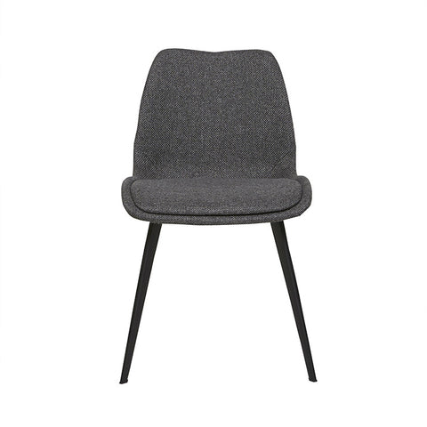 isaac dining chair woven charcoal