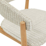 villa curve dining chair white
