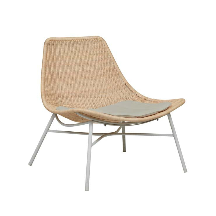 weaver scoop chair natural