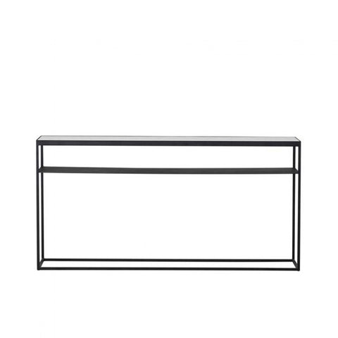 elle slim console white with black frame 1500