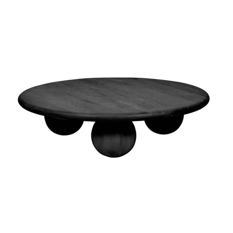 bruno ball coffee table black