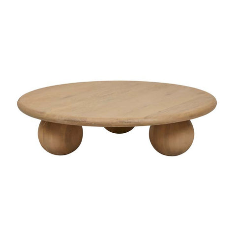 bruno ball coffee table natural