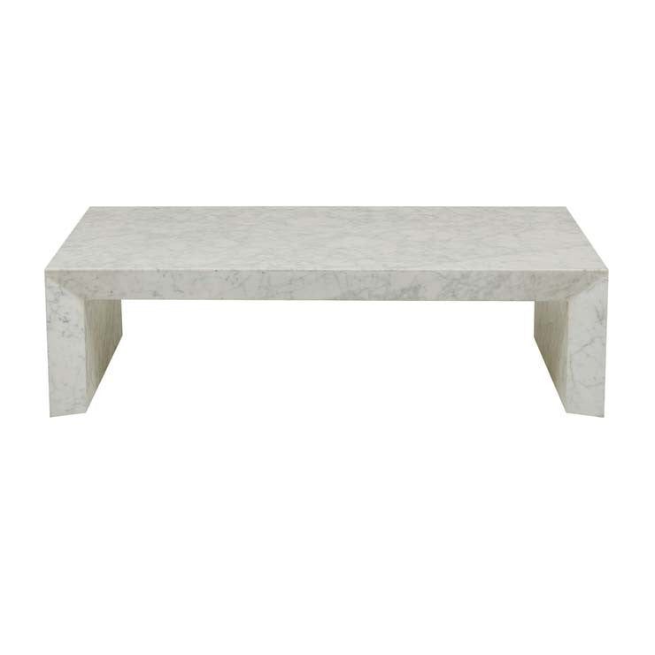 elle monument coffee table white