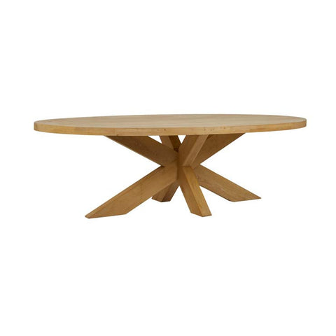 acre oval dining table natural