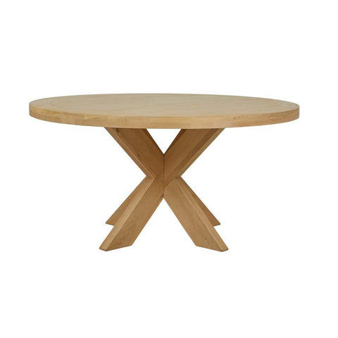acre round dining table natural