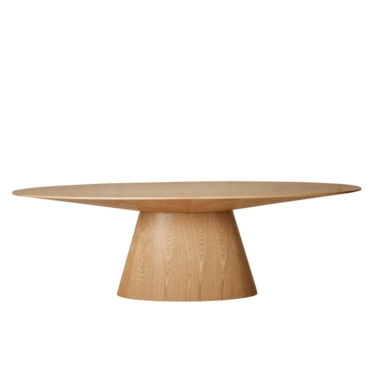 classique oval dining table natural ash