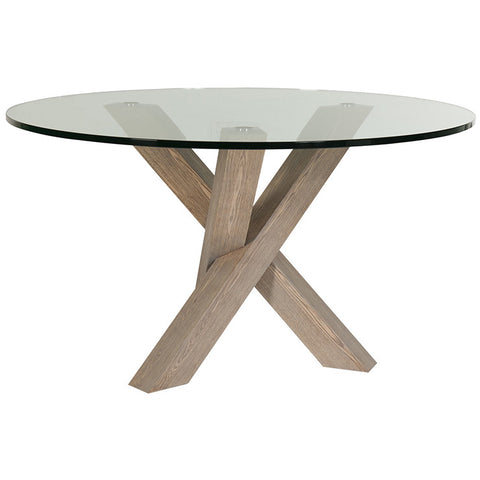 hudson round dining table six seat grey ash