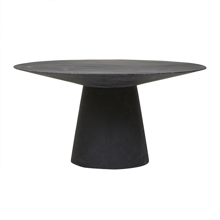 livorno dining table six seater black speckle