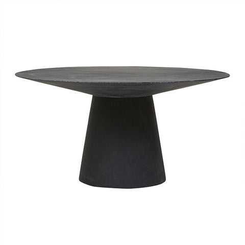 livorno dining table four seater black speckle