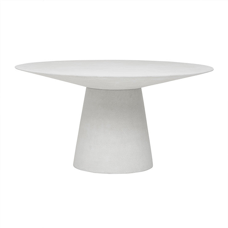 livorno dining table six seater white speckle