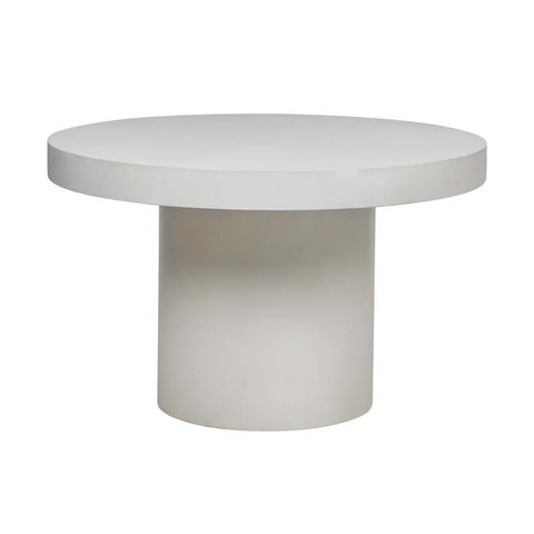 ossa concrete round dining table white