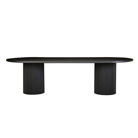 benjamin ripple dining table black
