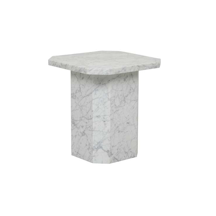 elle legacy side table white