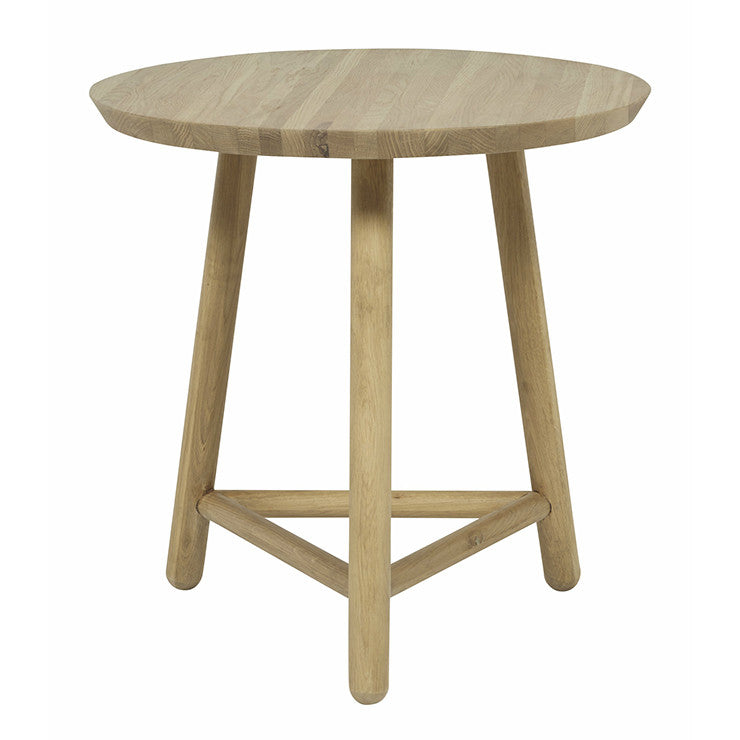 linea tri side table large oak