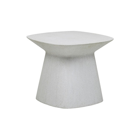 livorno curve side table white speckle