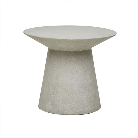 livorno round side table grey speckle