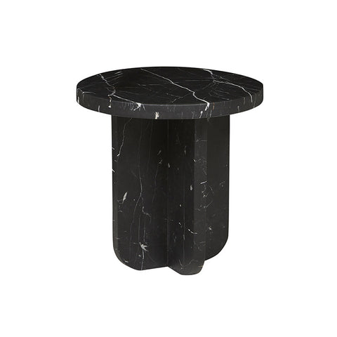 amara curve side table black