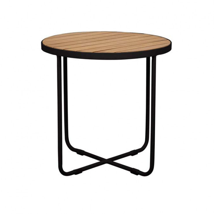 cali cross side table black