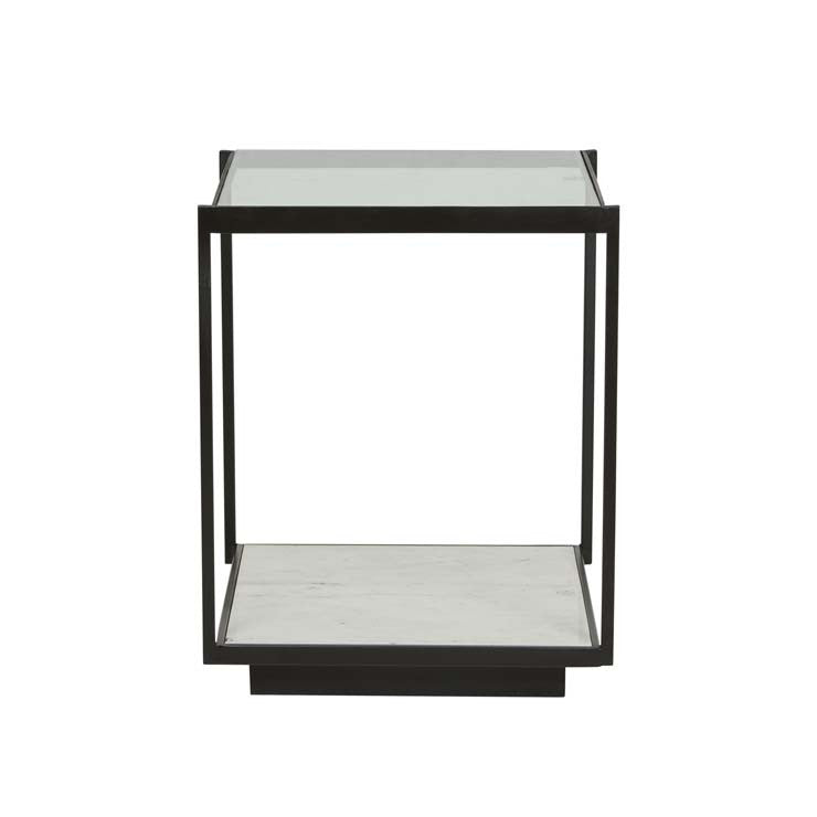 amelie linear marble side table