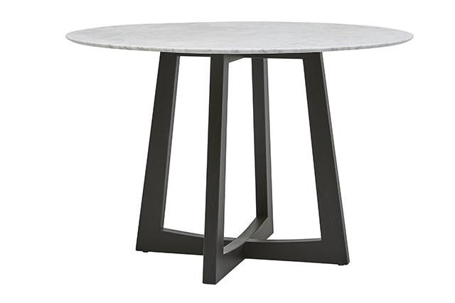 sloan marble dining table dark wenge