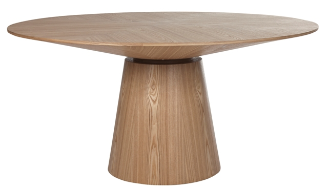 classique round dining table natural ash six seat