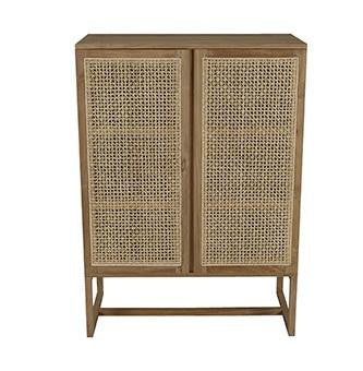 willow woven storage unit teak