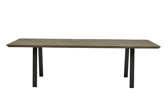 finsbury herringbone dining table grey sand eight seater
