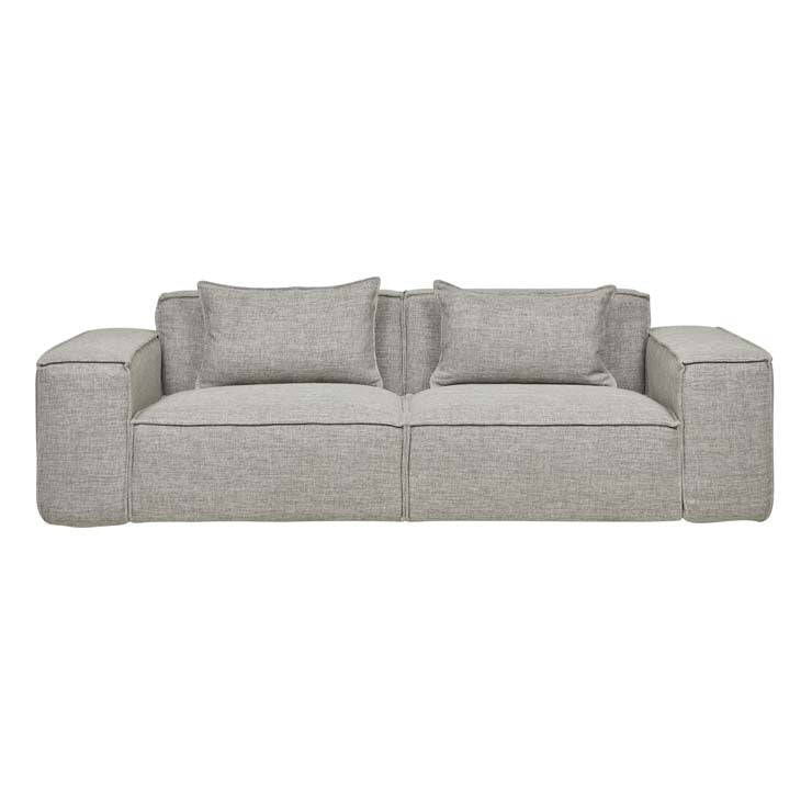 felix block three seater sofa cement