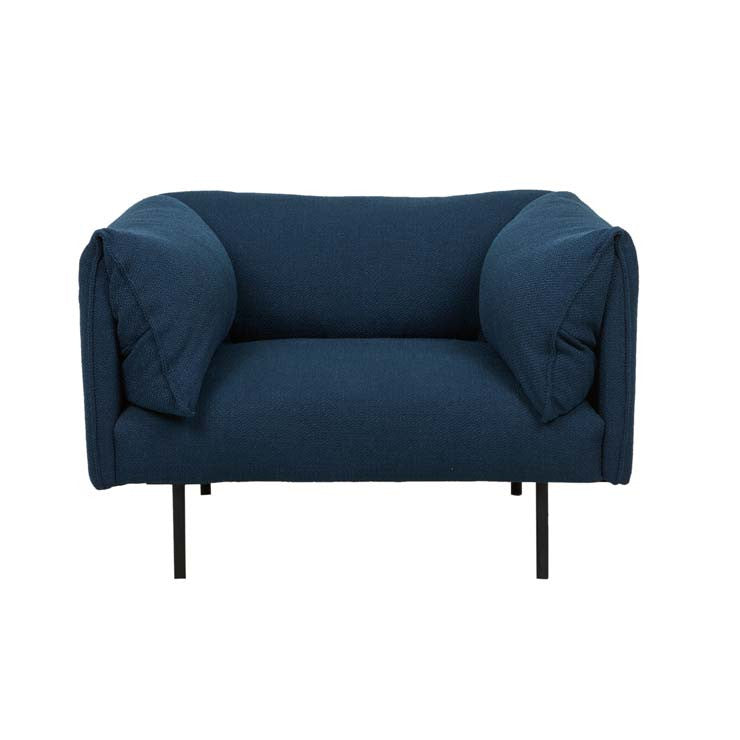 felix fold one seater sofa navy
