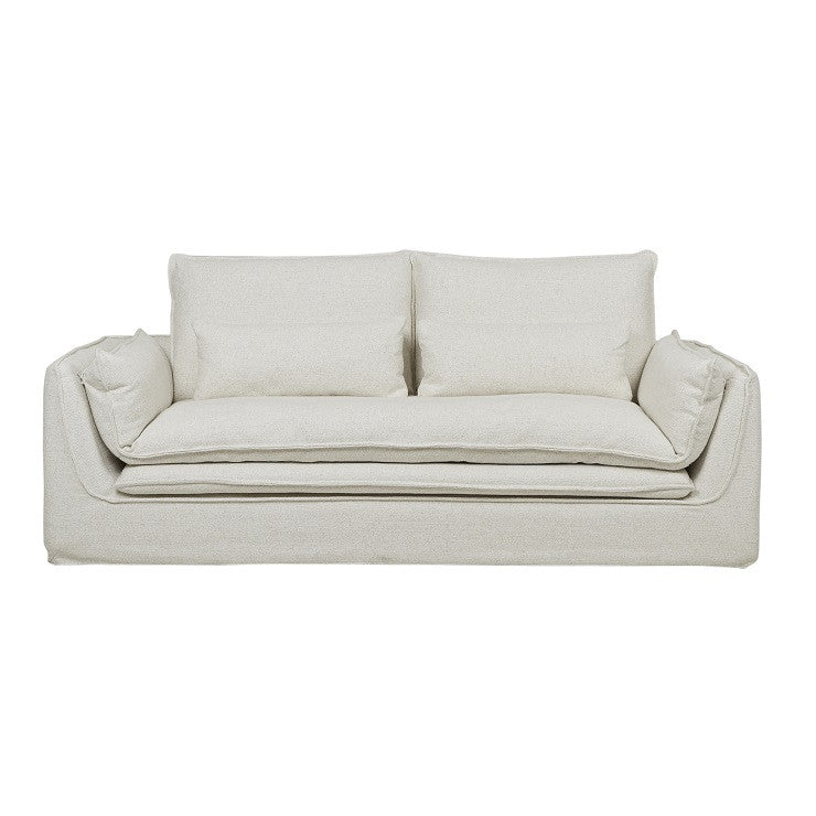 orlando seamed three seater sofa dove