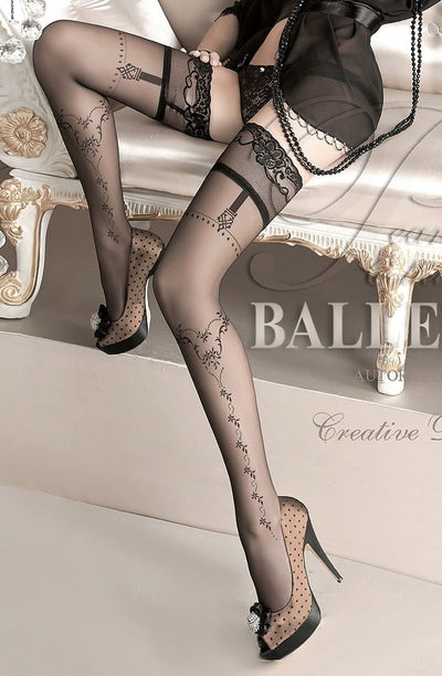 Ballerina Hold Ups UK S/M / Black Ballerina 127 Black Hold Ups