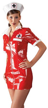 Black Level Womens PVC Clothing Red Vinyl Nurse Outfit