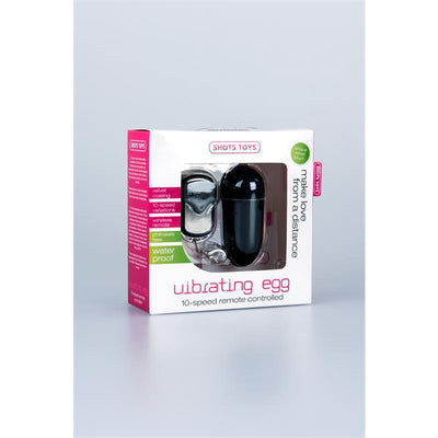 Diva's Closet Love Egg 10 Speed Remote Control Black Love Egg