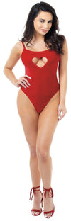 Dreamgirl Dreamgirl Teddy UK 6-8 / Red Ruby Stretch Velvet Teddy