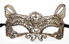 Dreamgirl eye mask One Size / Gold Gold Feline Masquerade Lace Eye Mask