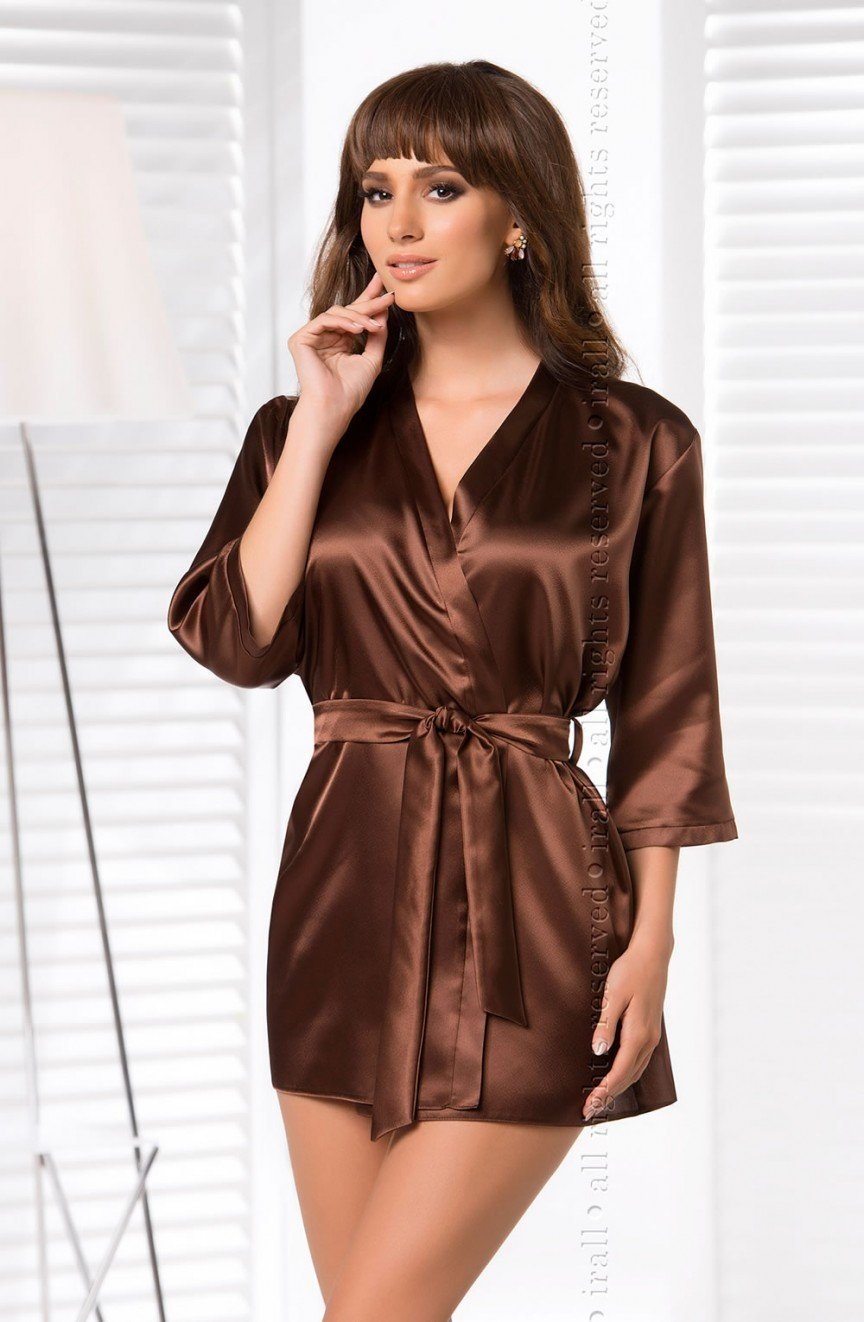 Irall Aria Satin Dressing Gown - Diva\'s Closet