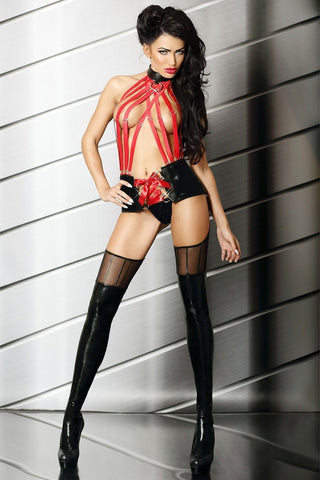 Black / Red Set Sensual Mistress Set - Divas Closet