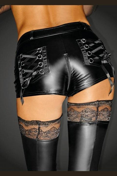 Noir Handmade Diva Collection Wet Look Shorts F138