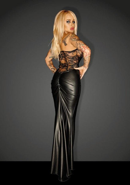 Long Corset Dress F140 by Noir Handmade Diva Collection