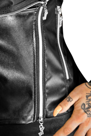 Noir Handmade Eco Leather Jacket - Divas Closet