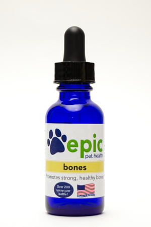 Bones - promotes healthy bones after injury and maintains bone health in aging pets